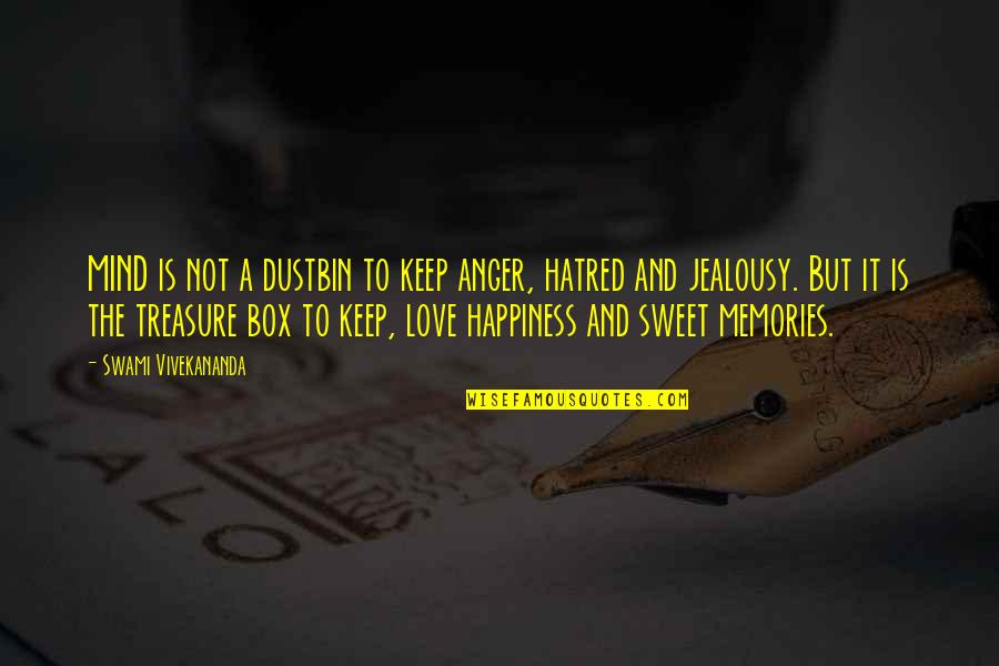 Sweet'st Quotes By Swami Vivekananda: MIND is not a dustbin to keep anger,