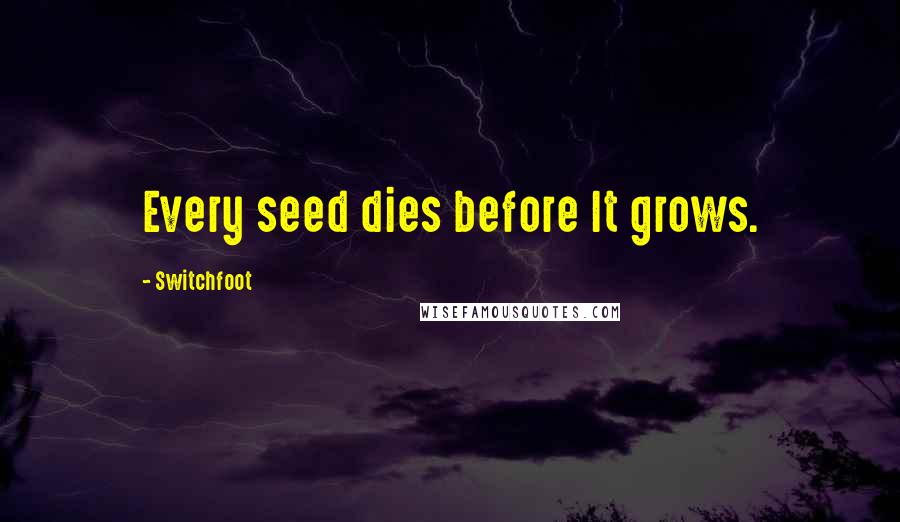 Switchfoot quotes: Every seed dies before It grows.