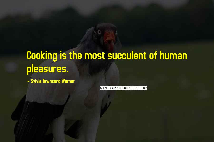 Sylvia Townsend Warner quotes: Cooking is the most succulent of human pleasures.