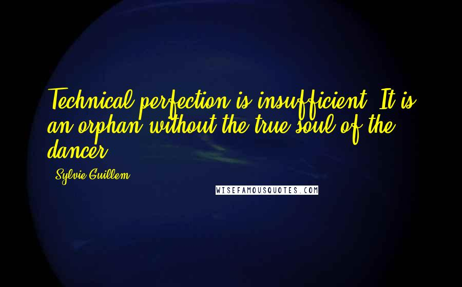 Sylvie Guillem quotes: Technical perfection is insufficient. It is an orphan without the true soul of the dancer.