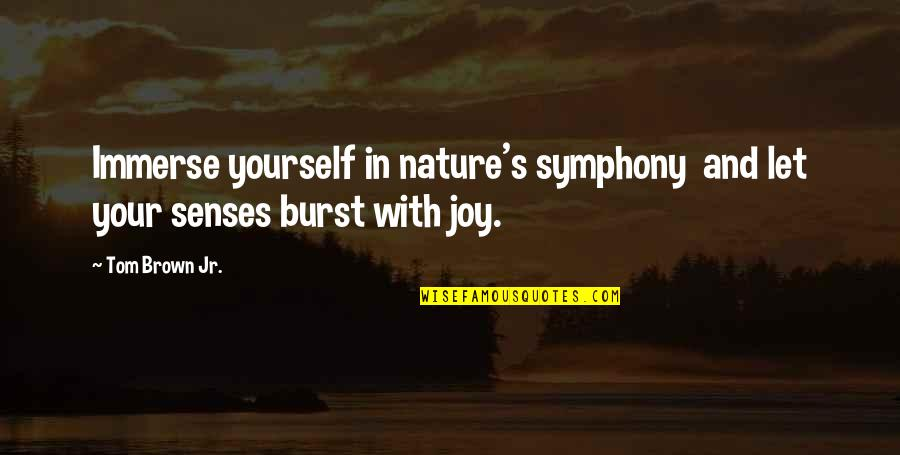 Symphony's Quotes By Tom Brown Jr.: Immerse yourself in nature's symphony and let your