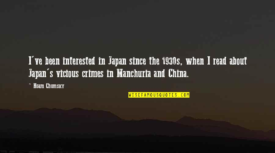Synchronous Quotes By Noam Chomsky: I've been interested in Japan since the 1930s,