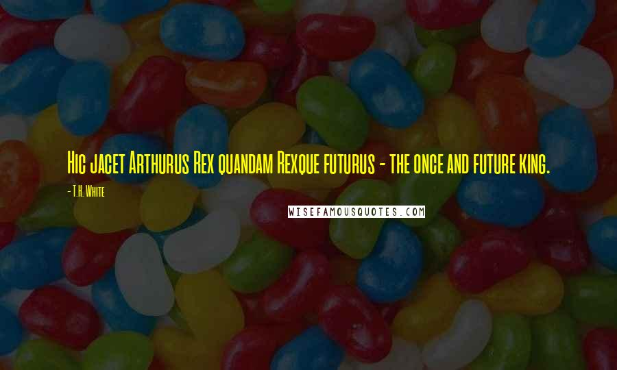 T.H. White quotes: Hic jacet Arthurus Rex quandam Rexque futurus - the once and future king.