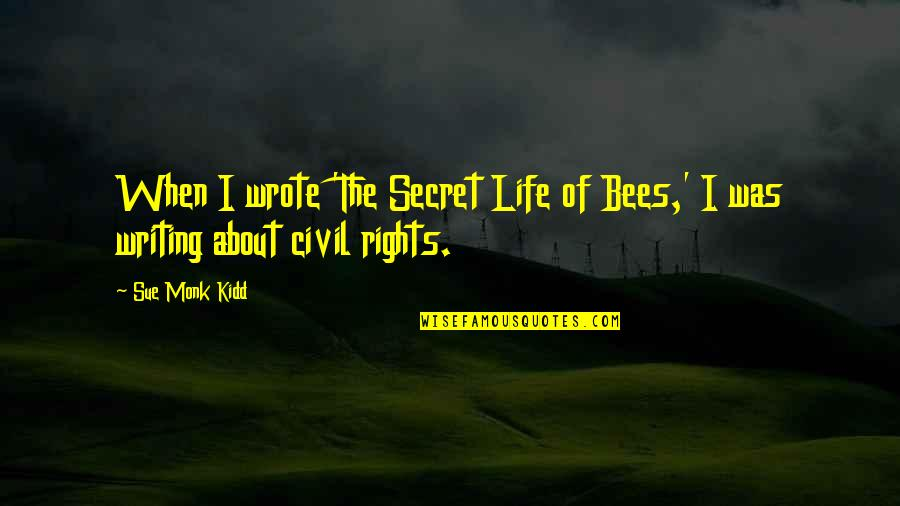 T-ray In The Secret Life Of Bees Quotes By Sue Monk Kidd: When I wrote 'The Secret Life of Bees,'