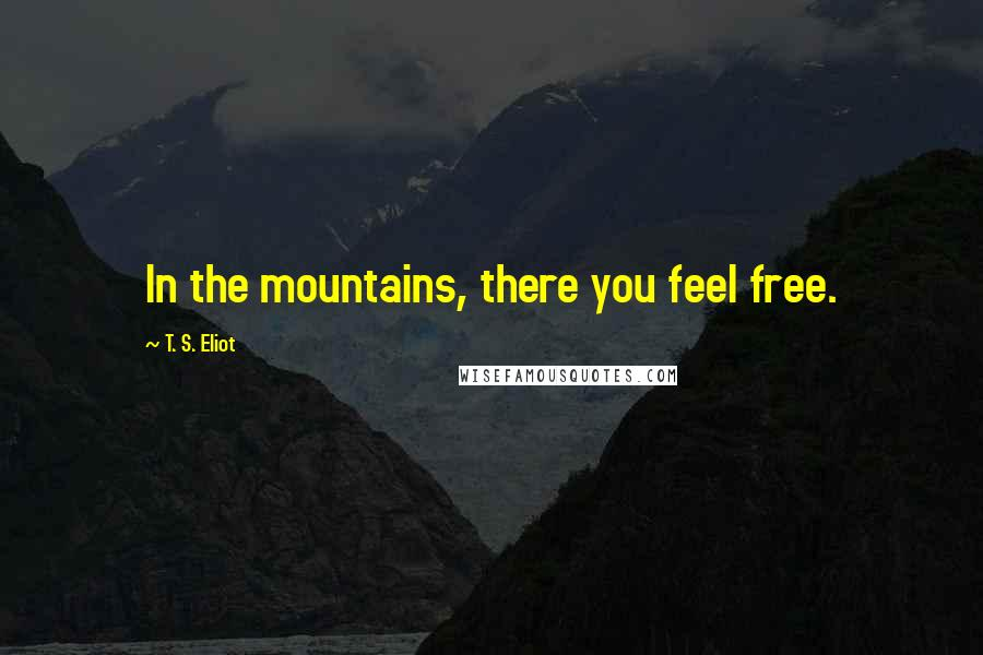 T. S. Eliot quotes: In the mountains, there you feel free.