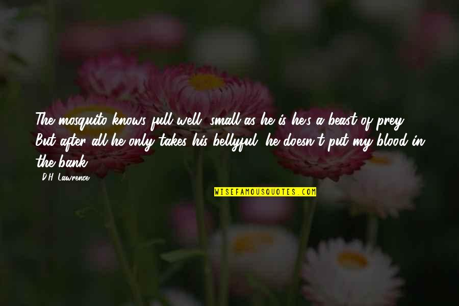 T.s. Lawrence Quotes By D.H. Lawrence: The mosquito knows full well, small as he