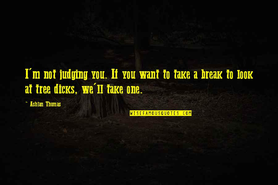Take A Break Quotes By Ashlan Thomas: I'm not judging you. If you want to