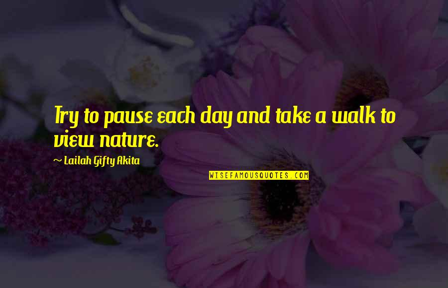 Take A Break Quotes By Lailah Gifty Akita: Try to pause each day and take a