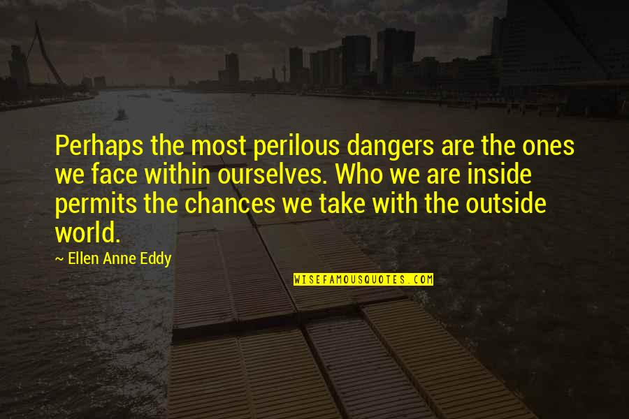 Take No Chances Quotes By Ellen Anne Eddy: Perhaps the most perilous dangers are the ones