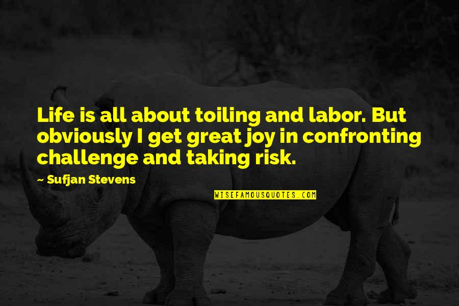 Taking On Challenges Quotes By Sufjan Stevens: Life is all about toiling and labor. But