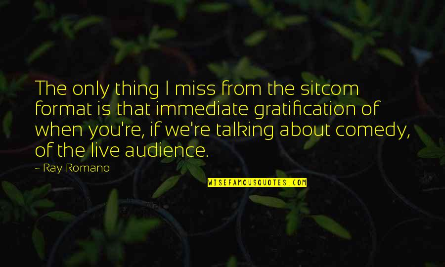 Talking About You Quotes By Ray Romano: The only thing I miss from the sitcom
