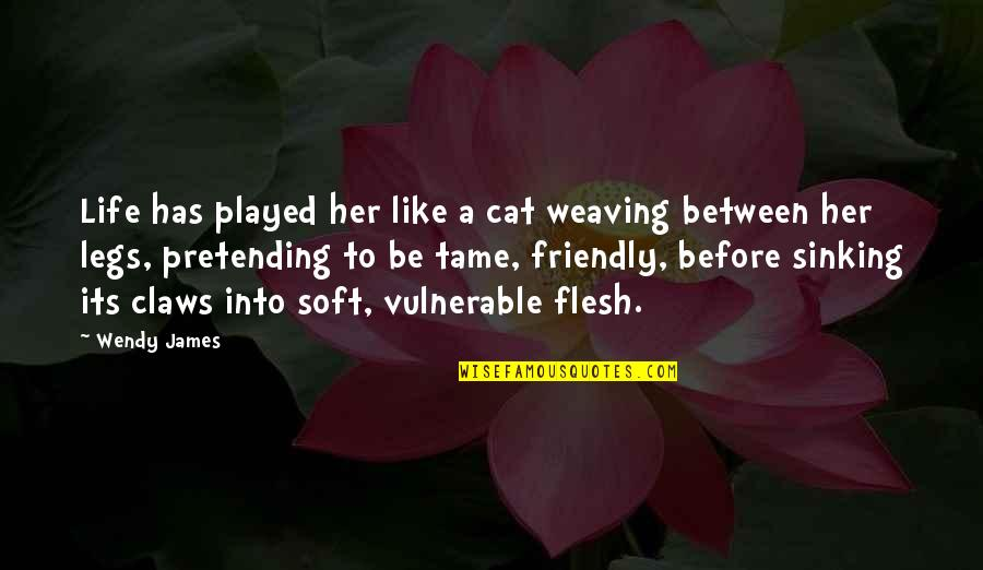 Tame Her Quotes By Wendy James: Life has played her like a cat weaving