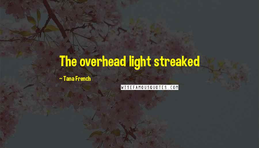 Tana French quotes: The overhead light streaked