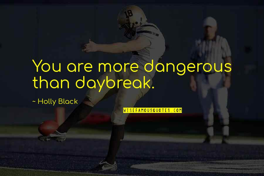 Tana Quotes By Holly Black: You are more dangerous than daybreak.