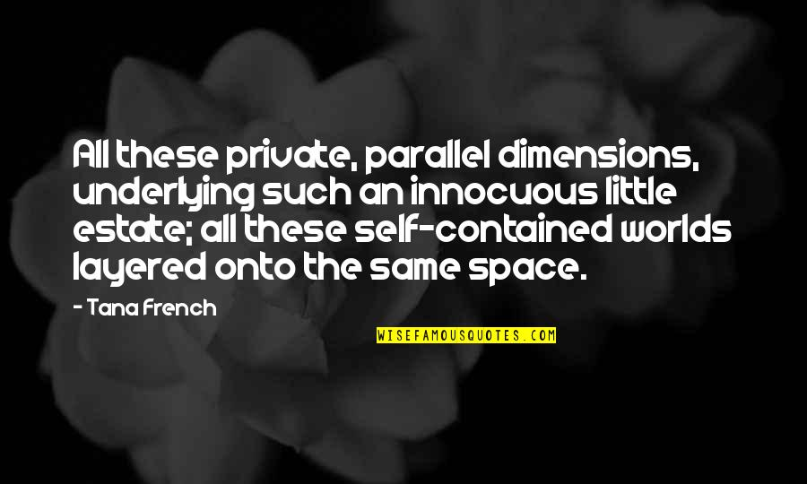 Tana Quotes By Tana French: All these private, parallel dimensions, underlying such an