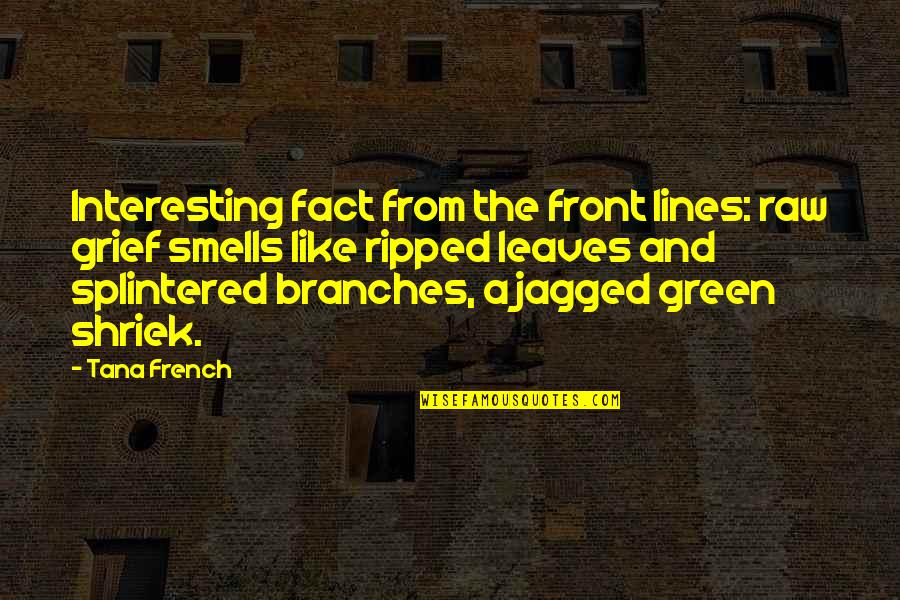 Tana Quotes By Tana French: Interesting fact from the front lines: raw grief