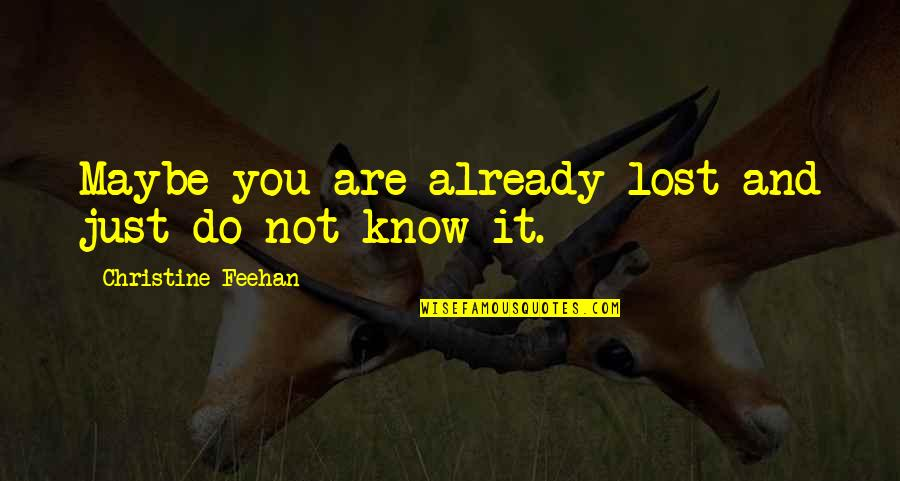 Tangina Quotes By Christine Feehan: Maybe you are already lost and just do