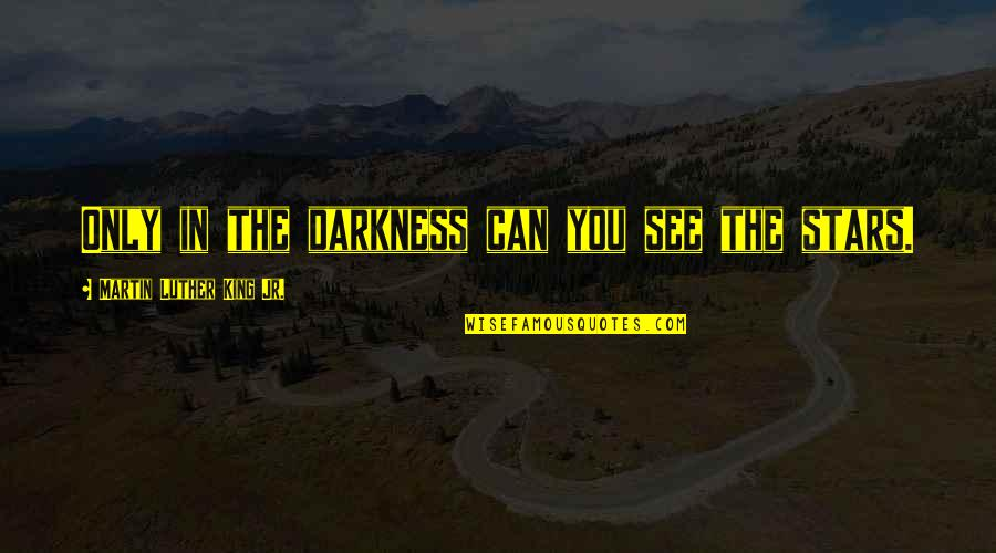 Tapang Tapangan Quotes By Martin Luther King Jr.: Only in the darkness can you see the