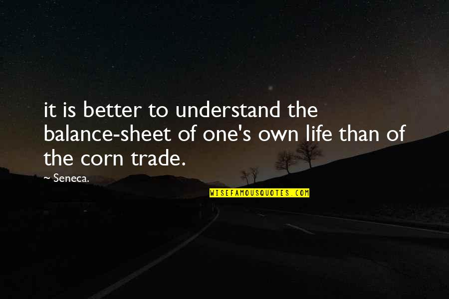 Tapang Tapangan Quotes By Seneca.: it is better to understand the balance-sheet of