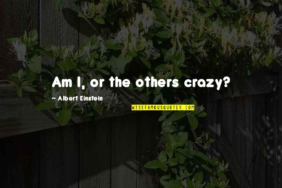 Tarred Quotes By Albert Einstein: Am I, or the others crazy?