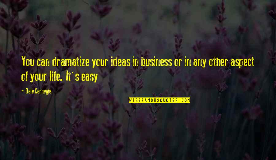 Tarun Sagar Ji Quotes By Dale Carnegie: You can dramatize your ideas in business or