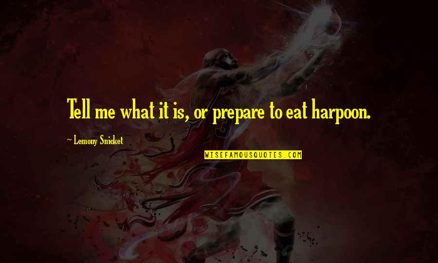 Task Forces Quotes By Lemony Snicket: Tell me what it is, or prepare to