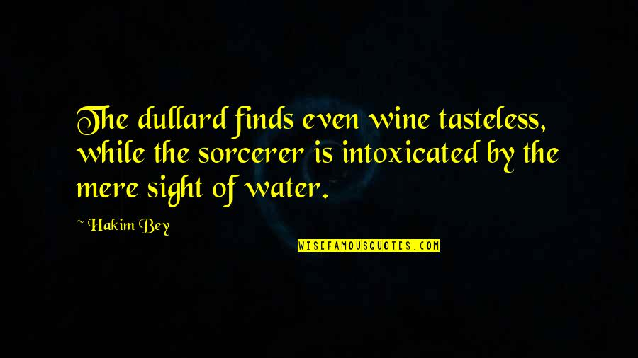 Tasteless Quotes By Hakim Bey: The dullard finds even wine tasteless, while the