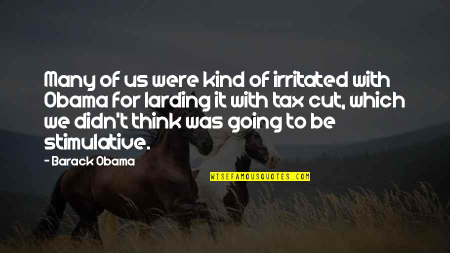 Tax Cut Quotes By Barack Obama: Many of us were kind of irritated with