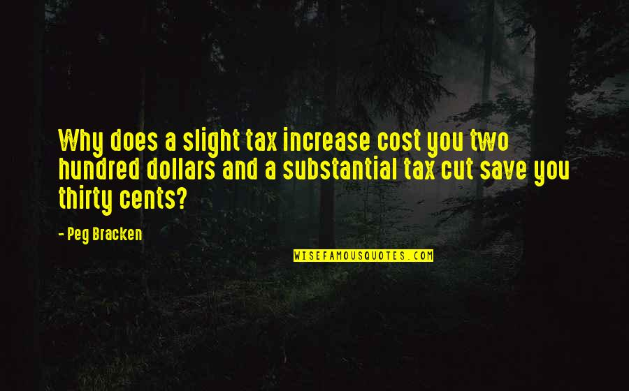 Tax Cut Quotes By Peg Bracken: Why does a slight tax increase cost you