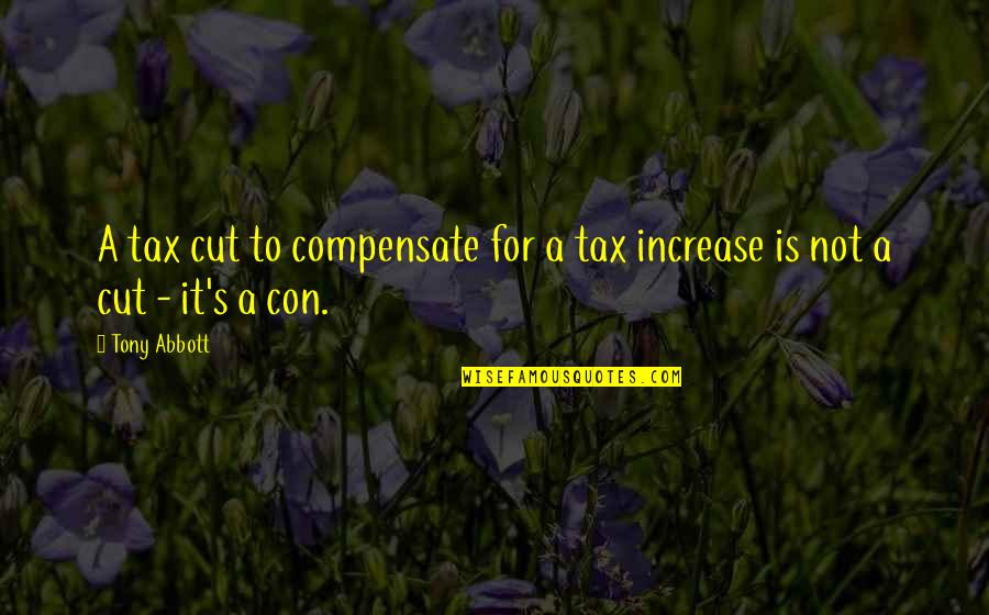 Tax Cut Quotes By Tony Abbott: A tax cut to compensate for a tax