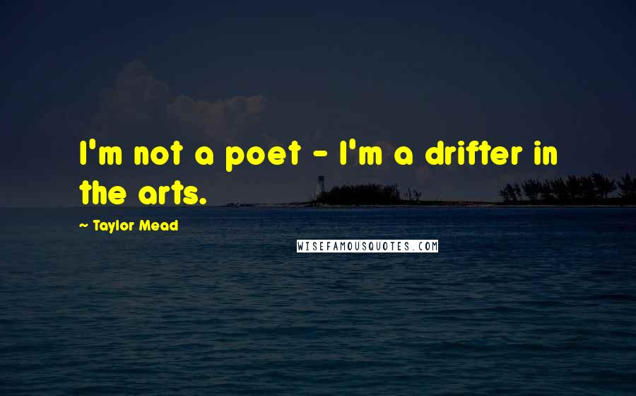 Taylor Mead quotes: I'm not a poet - I'm a drifter in the arts.