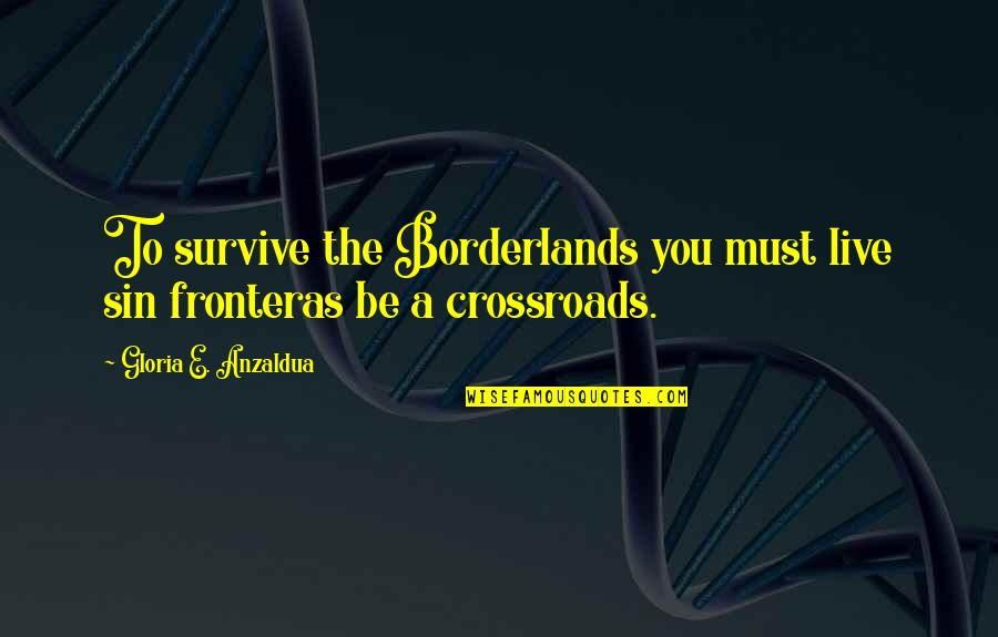 Team Magma Grunt Quotes By Gloria E. Anzaldua: To survive the Borderlands you must live sin