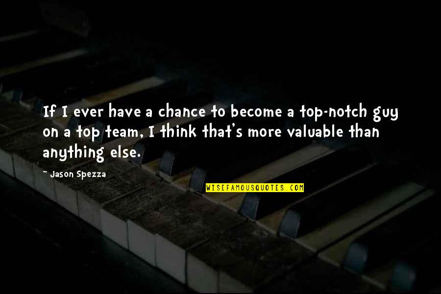 Team On Top Quotes By Jason Spezza: If I ever have a chance to become