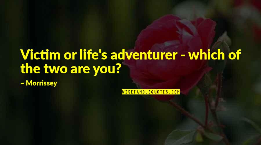 Teamwork Wins Games Quotes By Morrissey: Victim or life's adventurer - which of the