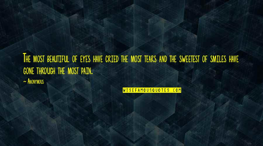 Tears I've Cried Quotes By Anonymous: The most beautiful of eyes have cried the