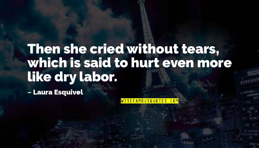 Tears I've Cried Quotes By Laura Esquivel: Then she cried without tears, which is said