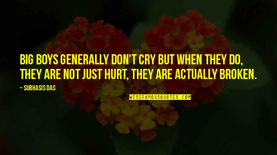 Tebbit Quotes By Subhasis Das: Big boys generally don't cry but when they