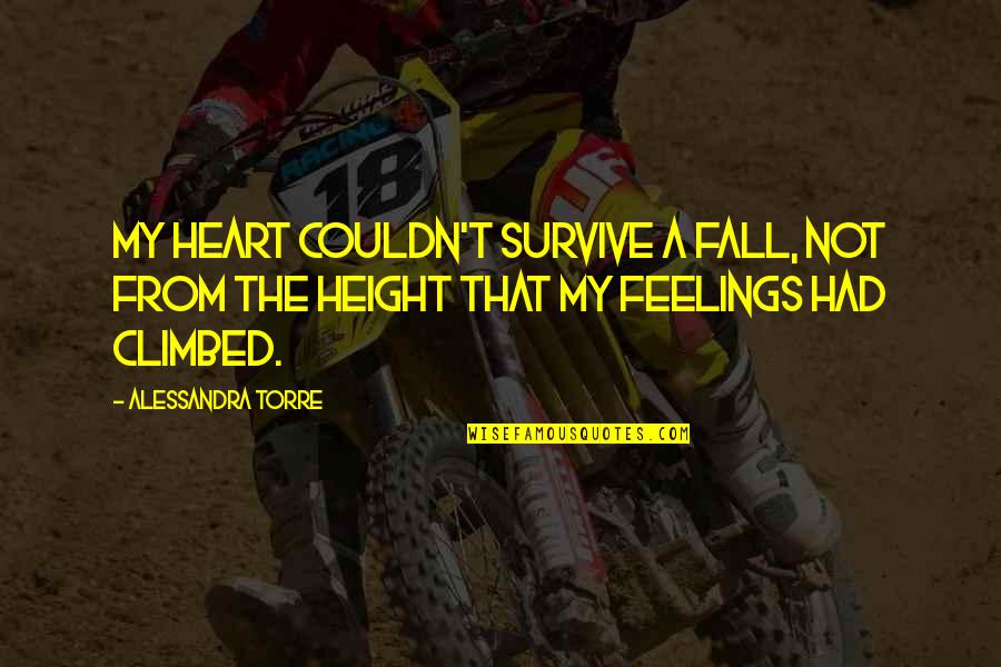 Tech Stock Quotes By Alessandra Torre: My heart couldn't survive a fall, not from