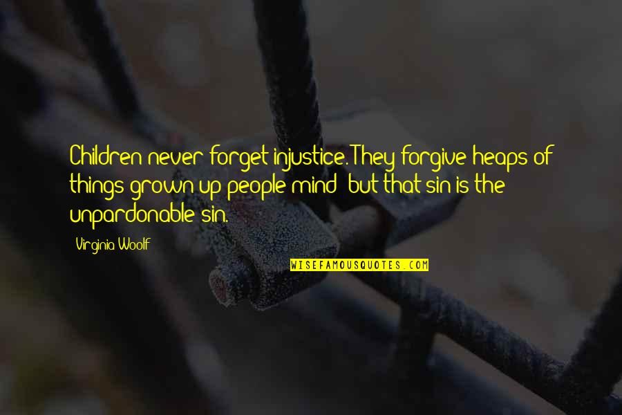 Tech Stock Quotes By Virginia Woolf: Children never forget injustice. They forgive heaps of