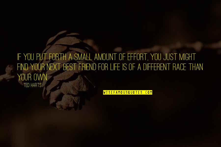 Ted Best Friend Quotes By Ted Harts: If you put forth a small amount of