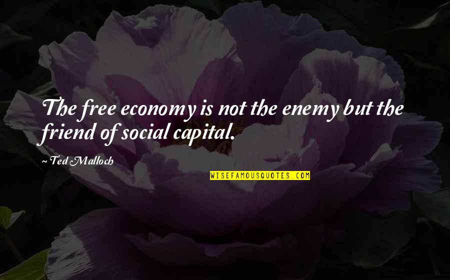 Ted Best Friend Quotes By Ted Malloch: The free economy is not the enemy but