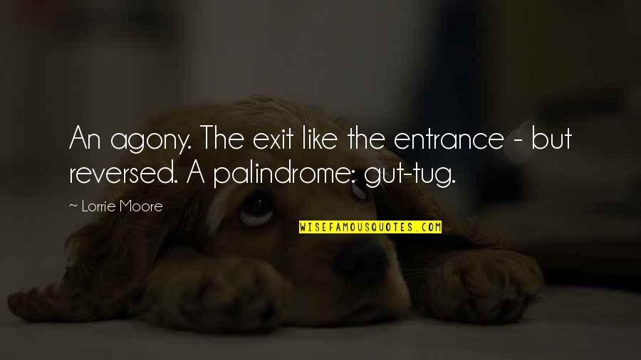 Ted Dibiase Jr Quotes By Lorrie Moore: An agony. The exit like the entrance -