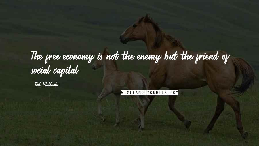 Ted Malloch quotes: The free economy is not the enemy but the friend of social capital.