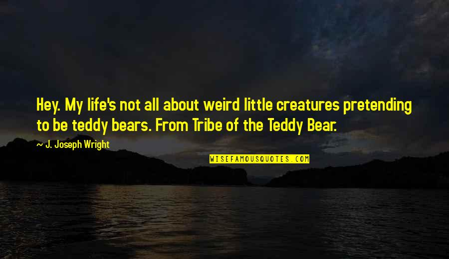 Teddy Bear Quotes By J. Joseph Wright: Hey. My life's not all about weird little