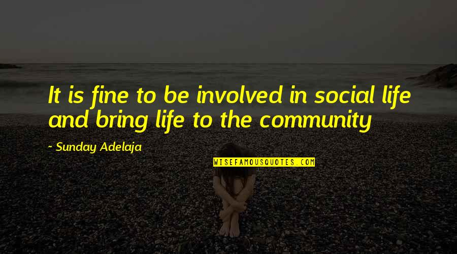 Teel Quotes By Sunday Adelaja: It is fine to be involved in social