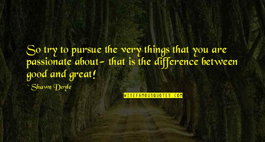 Teenage Girl Sayings And Quotes By Shawn Doyle: So try to pursue the very things that