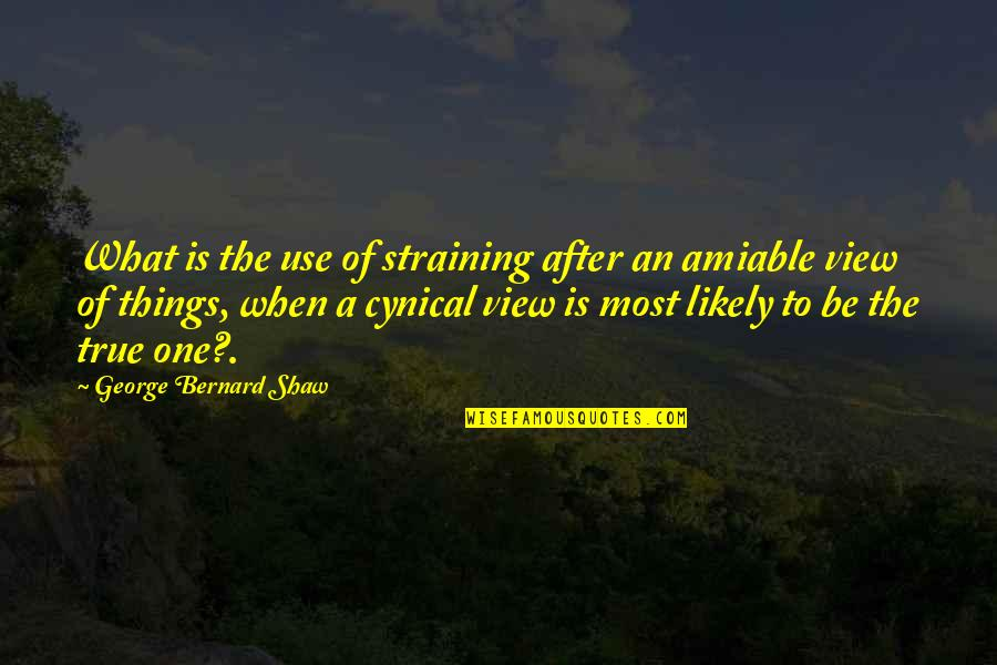 Telemachus Important Quotes By George Bernard Shaw: What is the use of straining after an