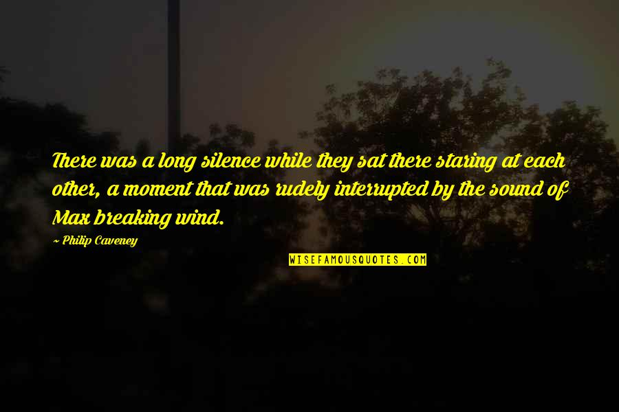 Telemachus Maturity Quotes By Philip Caveney: There was a long silence while they sat