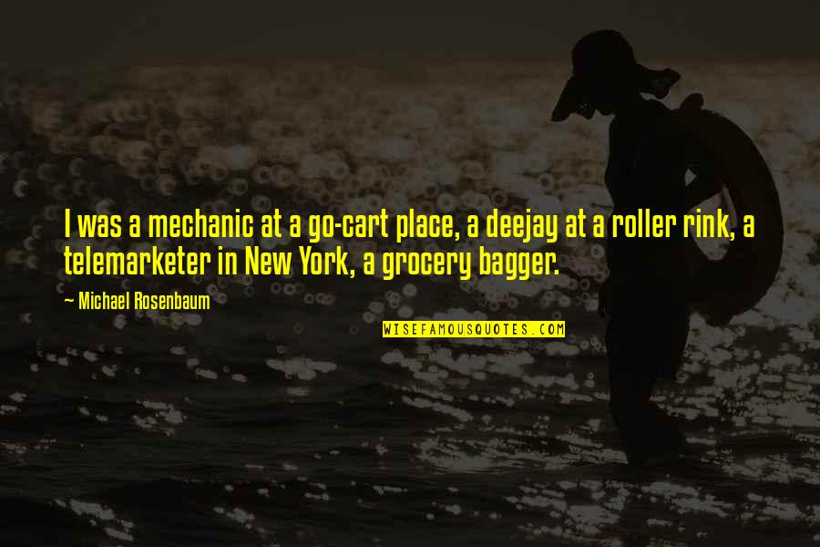 Telemarketer Quotes By Michael Rosenbaum: I was a mechanic at a go-cart place,