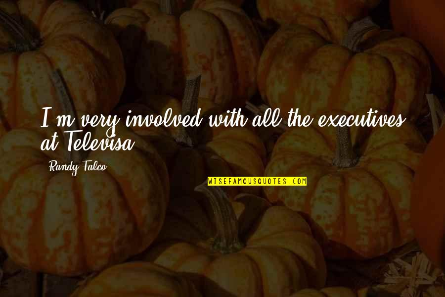 Televisa Quotes By Randy Falco: I'm very involved with all the executives at